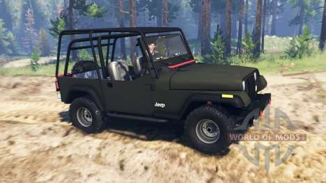 Jeep YJ 1991 для Spin Tires