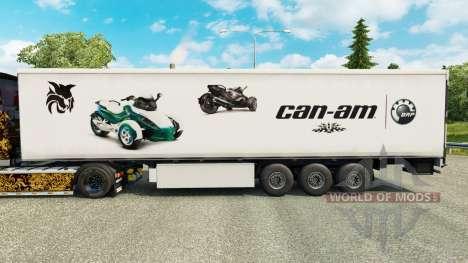 Скин Can-Am на полуприцепы для Euro Truck Simulator 2