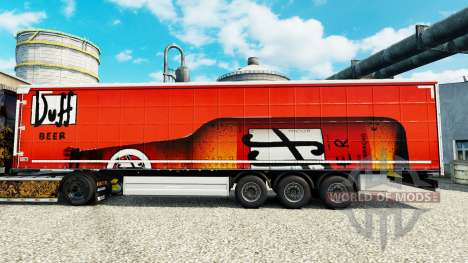 Скин Duff на полуприцепы для Euro Truck Simulator 2