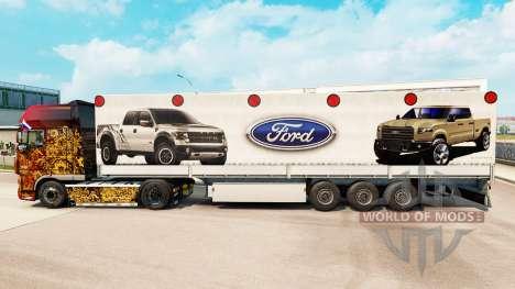Скин Ford на полуприцепы для Euro Truck Simulator 2