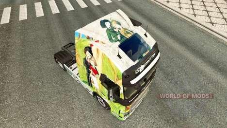 Скин Peynet на тягач Volvo для Euro Truck Simulator 2