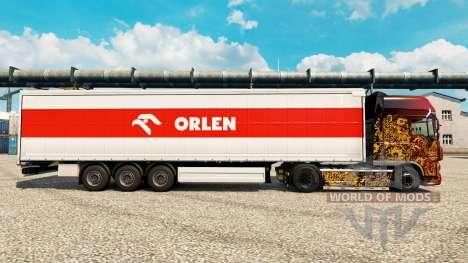 Скин Orlen на полуприцепы для Euro Truck Simulator 2