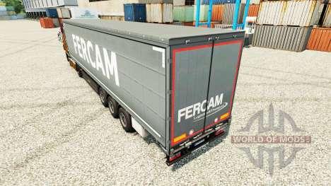 Скин Fercam на полуприцепы для Euro Truck Simulator 2