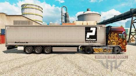 Скин PacLease на полуприцепы для Euro Truck Simulator 2