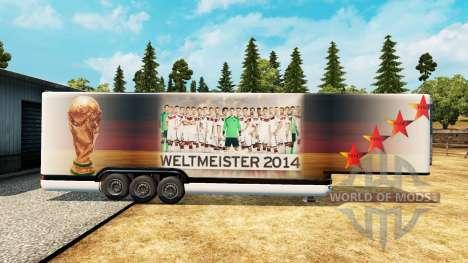 Полуприцеп-рефрижератор World Cup 2014 для Euro Truck Simulator 2