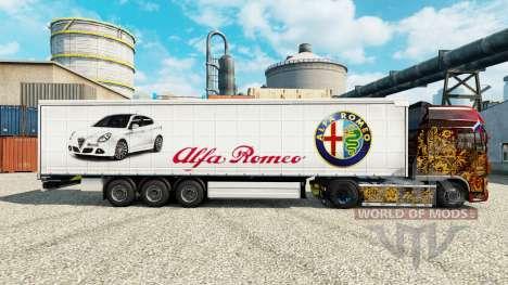 Скин Alfa Romeo на полуприцепы для Euro Truck Simulator 2