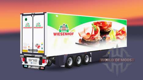 Полуприцеп-рефрижератор Lamberet Wiesenhof для Euro Truck Simulator 2