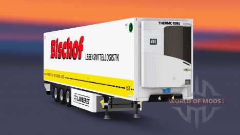 Полуприцеп-рефрижератор Lamberet Bischof для Euro Truck Simulator 2