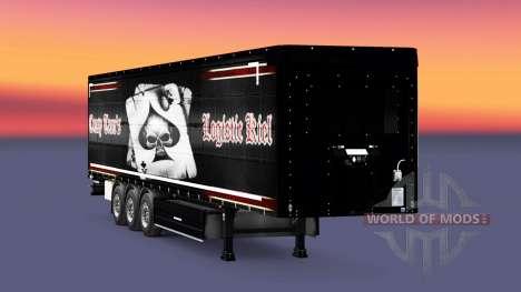 Скин Crasy Trans Logistic Kiel на полуприцепы для Euro Truck Simulator 2