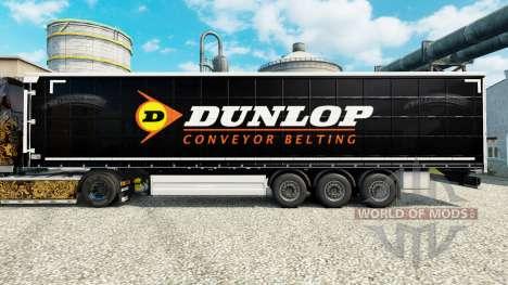 Скин Dunlop на полуприцепы для Euro Truck Simulator 2