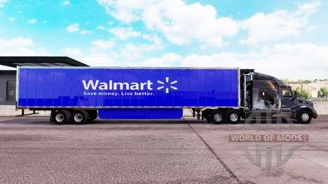 Скин Walmart на удлинённый полуприцеп для American Truck Simulator