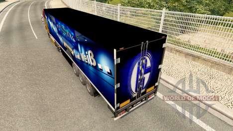 Скин FC Schalke 04 на полуприцепы для Euro Truck Simulator 2