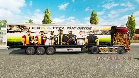 Скин FIFA15 v1.1 на полуприцепы для Euro Truck Simulator 2