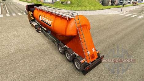 Скин Fangmann на цементный полуприцеп для Euro Truck Simulator 2
