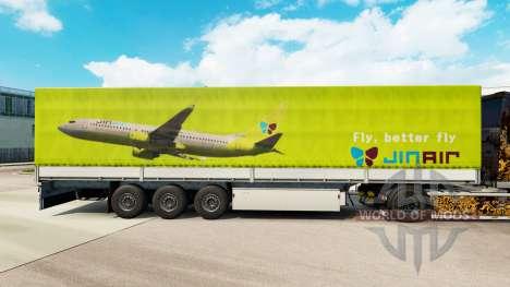 Скин Jin Air на полуприцепы для Euro Truck Simulator 2