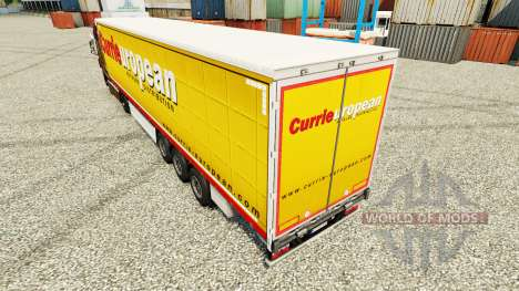 Скин Curries European на полуприцепы для Euro Truck Simulator 2