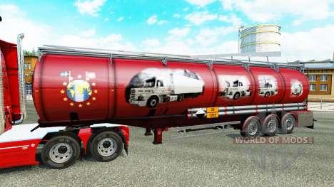Скин Scania History на химический полуприцеп для Euro Truck Simulator 2