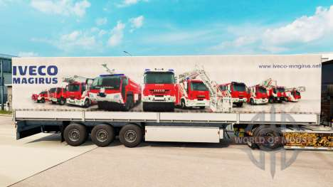 Скин Iveco Magirus на полуприцепы для Euro Truck Simulator 2