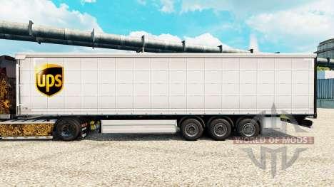 Скин UPS на полуприцепы для Euro Truck Simulator 2