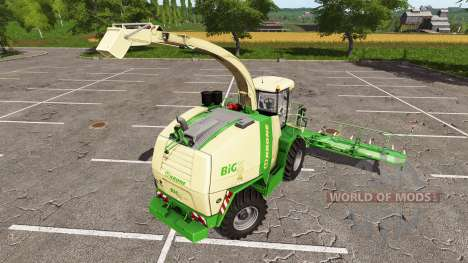 Krone BiG X 1100 bunker capacity для Farming Simulator 2017
