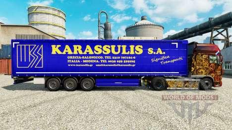 Скин Karassulis S.A. на полуприцепы для Euro Truck Simulator 2