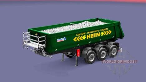 Полуприцеп-самосвал Schmitz Cargobull HEIN для Euro Truck Simulator 2