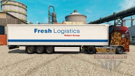 Скин Fresh Logistics на полуприцепы для Euro Truck Simulator 2