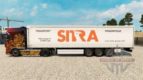 Скин Sitra на шторный полуприцеп для Euro Truck Simulator 2