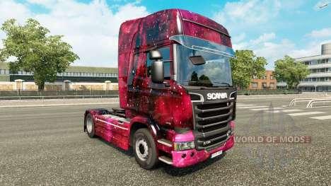 Скин Weltall на тягач Scania для Euro Truck Simulator 2