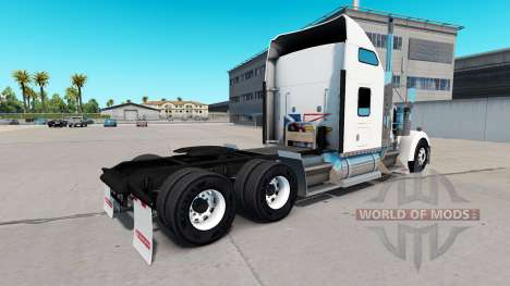 Скин Newfoundland Flag на тягач Kenworth W900 для American Truck Simulator