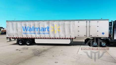 Скин Walmart на шторный полуприцеп для American Truck Simulator