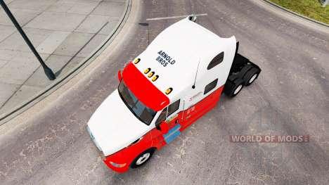 Скин Arnold Bros. на тягач Peterbilt 387 для American Truck Simulator