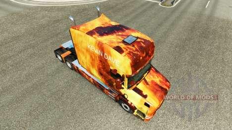 Скин Flames на тягач Scania T для Euro Truck Simulator 2