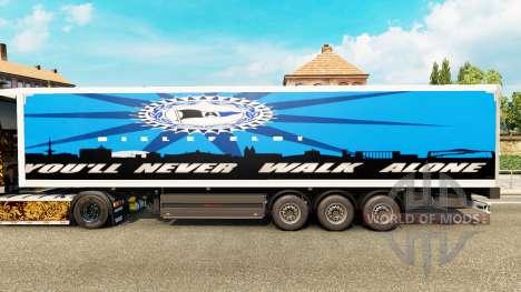 Скин Arminia Bielefeld на полуприцепы для Euro Truck Simulator 2