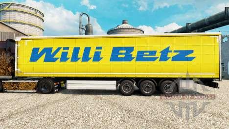 Скин Willi Betz на полуприцепы для Euro Truck Simulator 2