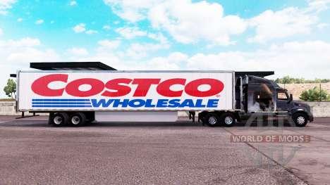 Скин Costco Wholesale на удлинённый полуприцеп для American Truck Simulator