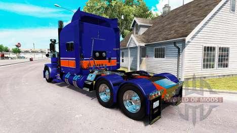 Скин Rollin Transport на тягач Peterbilt 389 для American Truck Simulator