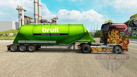 Скин Bruil на цементный полуприцеп для Euro Truck Simulator 2