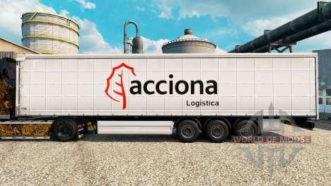 Скин Acciona на полуприцепы для Euro Truck Simulator 2
