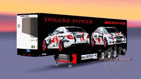 Полуприцеп-рефрижератор AMG Power для Euro Truck Simulator 2