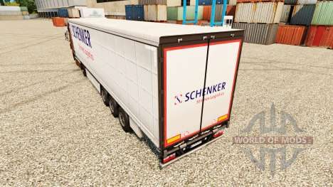 Скин Schenker Stinnes Logistics на полуприцепы для Euro Truck Simulator 2