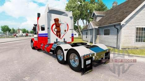 Скин Ferrero Kinderriegel на тягач Peterbilt 389 для American Truck Simulator