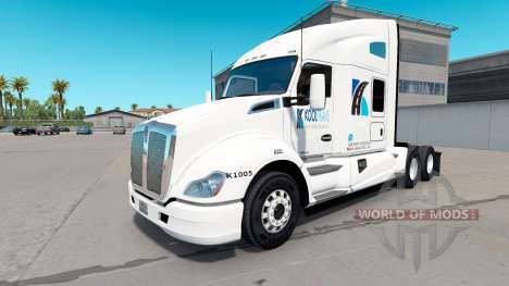 Скин KoolTrans на тягач Kenworth T680 для American Truck Simulator