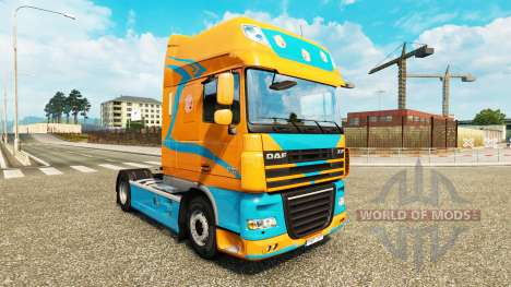 Скин Pezzaioli Pigs на тягач DAF для Euro Truck Simulator 2