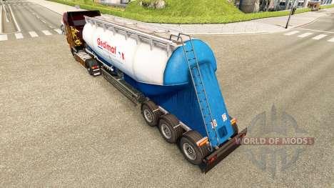Скин Gedimat на цементный полуприцеп для Euro Truck Simulator 2