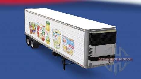 Скин Dole на рефрижераторный полуприцеп для American Truck Simulator