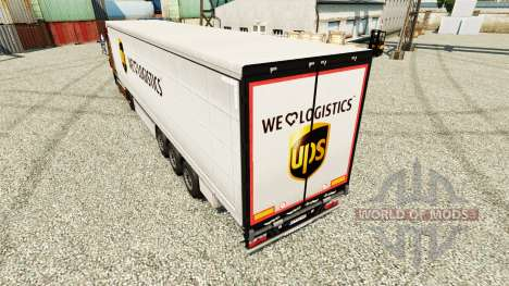 Скин UPS Logistics на полуприцепы для Euro Truck Simulator 2