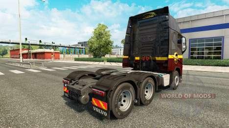 Скин UPS на тягач Volvo для Euro Truck Simulator 2