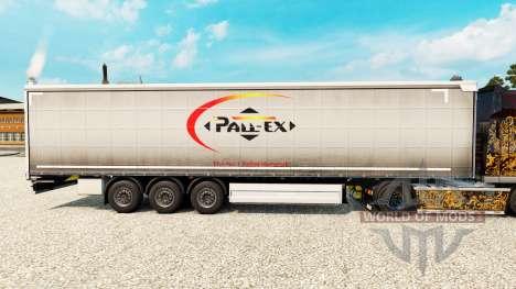 Скин Pall-Ex на шторный полуприцеп для Euro Truck Simulator 2