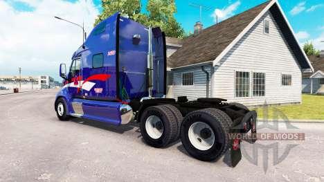 Скин B.T.Inc. на тягач Peterbilt 387 для American Truck Simulator